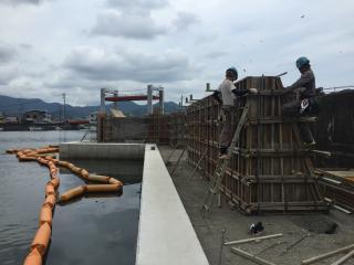 長島港海岸高潮対策工事